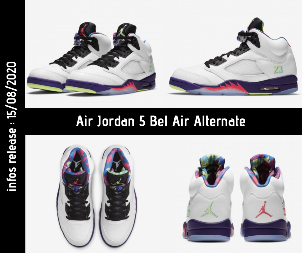 Photos de la Air Jordan 5 Bel Air