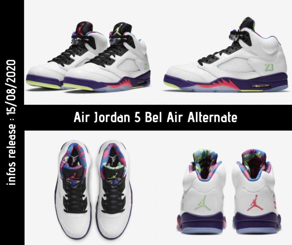 Photos de la Air Jordan 5 Bel Air