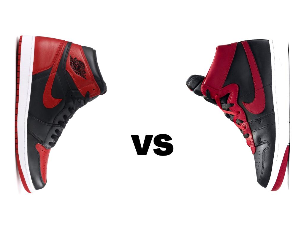 "Nike Air Jordan 1 Bred vs Nike Air Ship Pro ""banned"""