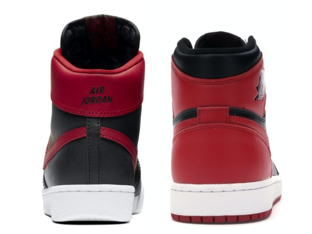 Nike Air Ship Pro Banned vs Nike Air Jordan 1 Bred