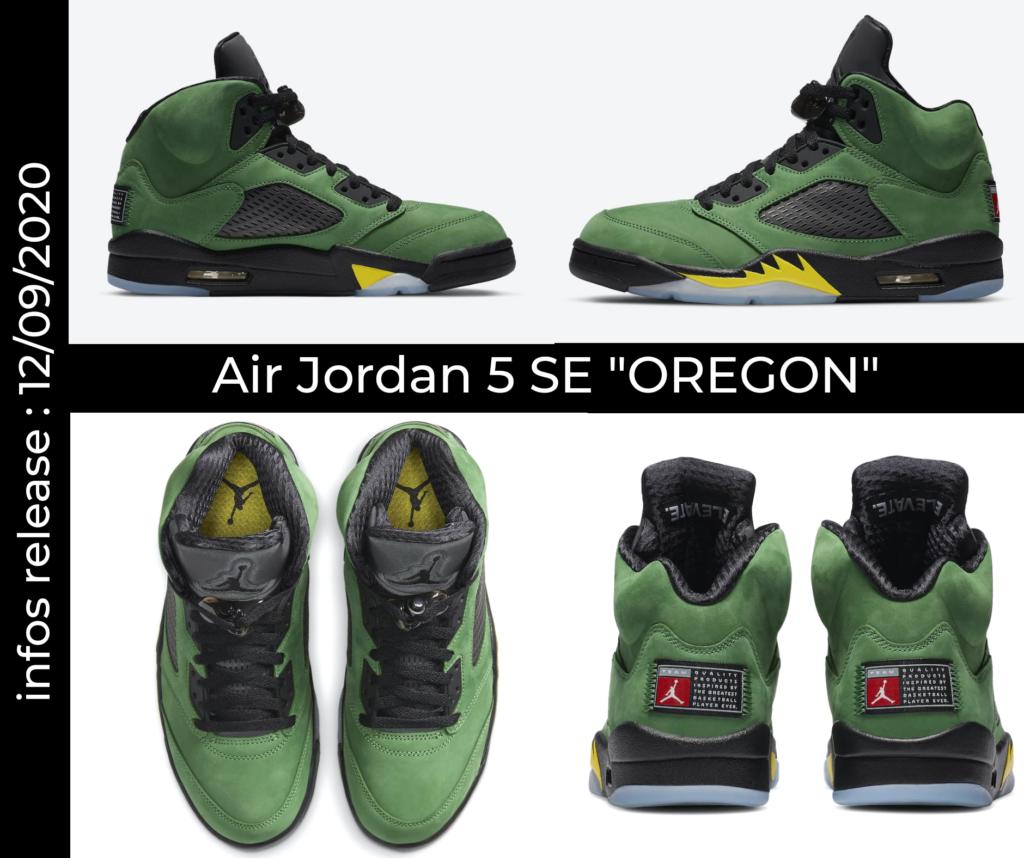 Visuels officiels de la nouvelle Air Jordan SE Oregon