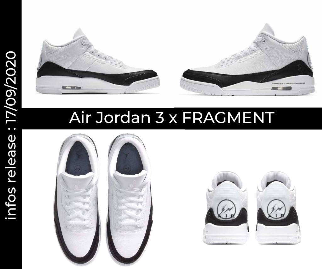 La Air Jordan 3 x Fragment sortira ce mois-ci.