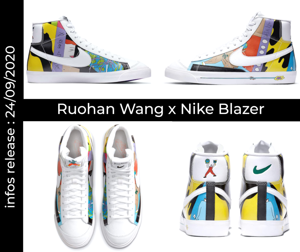 Mock up Ruohan Wang x Nike Blazer. Cliquez sur l'image pour accéder au lien sur nike.com