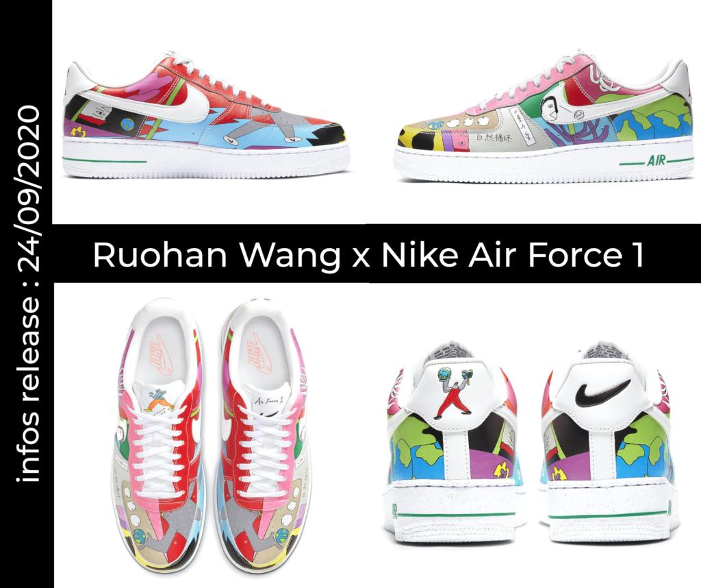 Mock up Ruohan Wang x Nike Air Force 1. Cliquez sur l'image pour accéder au lien sur nike.com