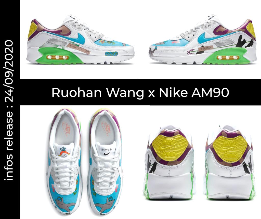 Mock up Ruohan Wang x Nike Air Max 90. Cliquez sur l'image pour accéder au lien sur nike.com