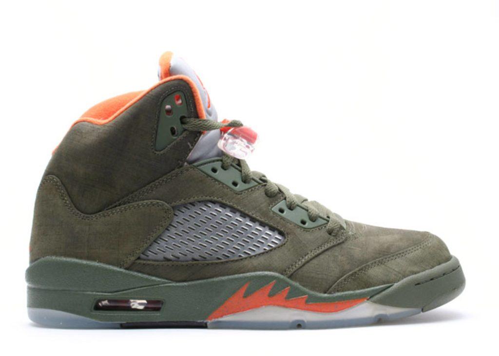 Air Jordan 5 Army Olive