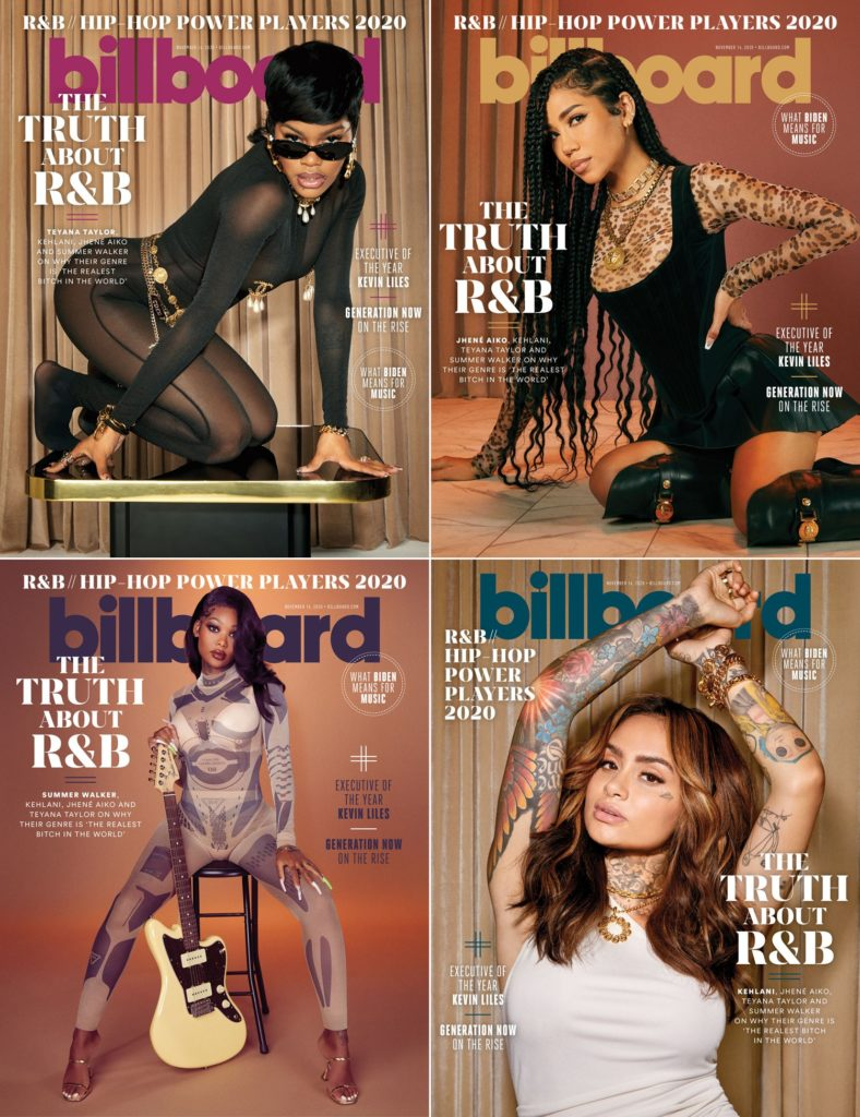 Billboard R&B Kehlani Summer Walker Jhené Aiko Teyana Taylor