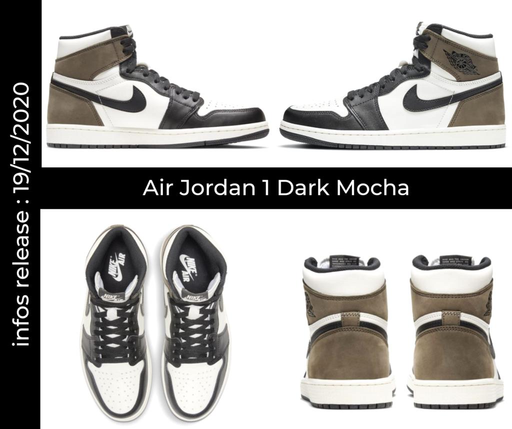 Mock Up de la Air Jordan 1 Dark Mocha